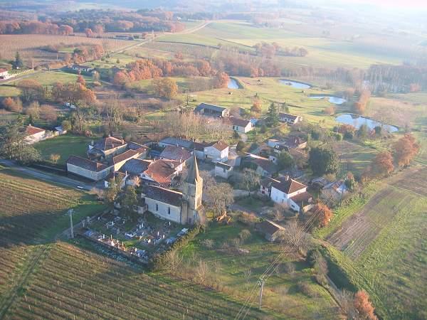photo aérienne de la commune d'Arquizan, le 20 décembre 2005