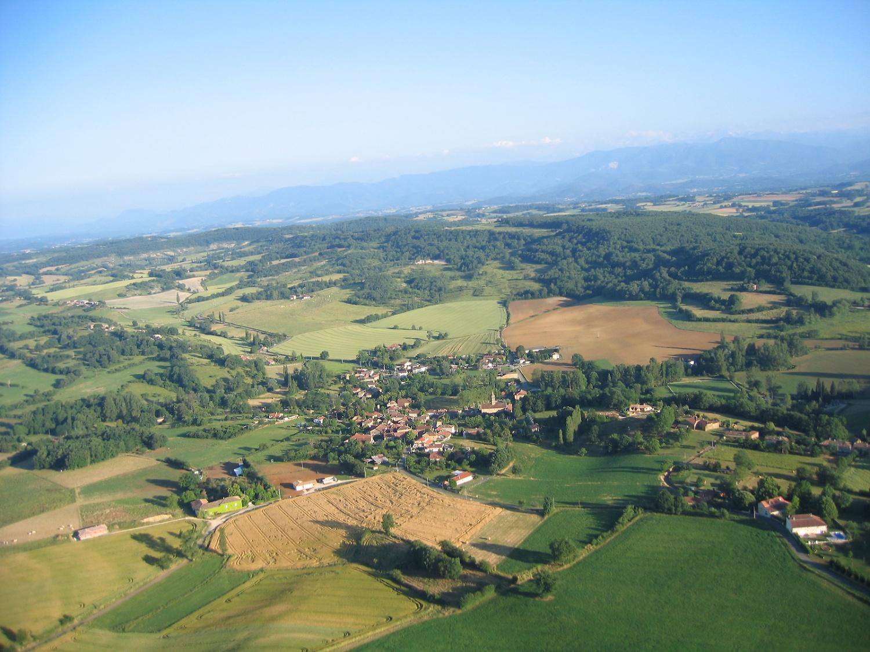 vue aerienne d'Aulon