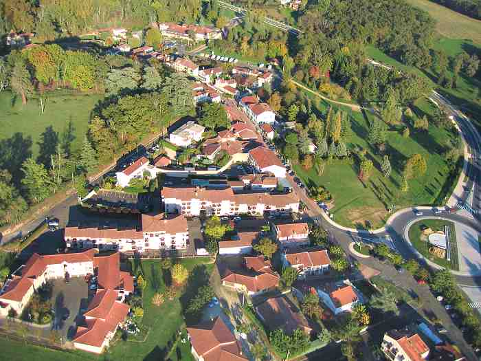 photo aerienne de Barbotan les thermes