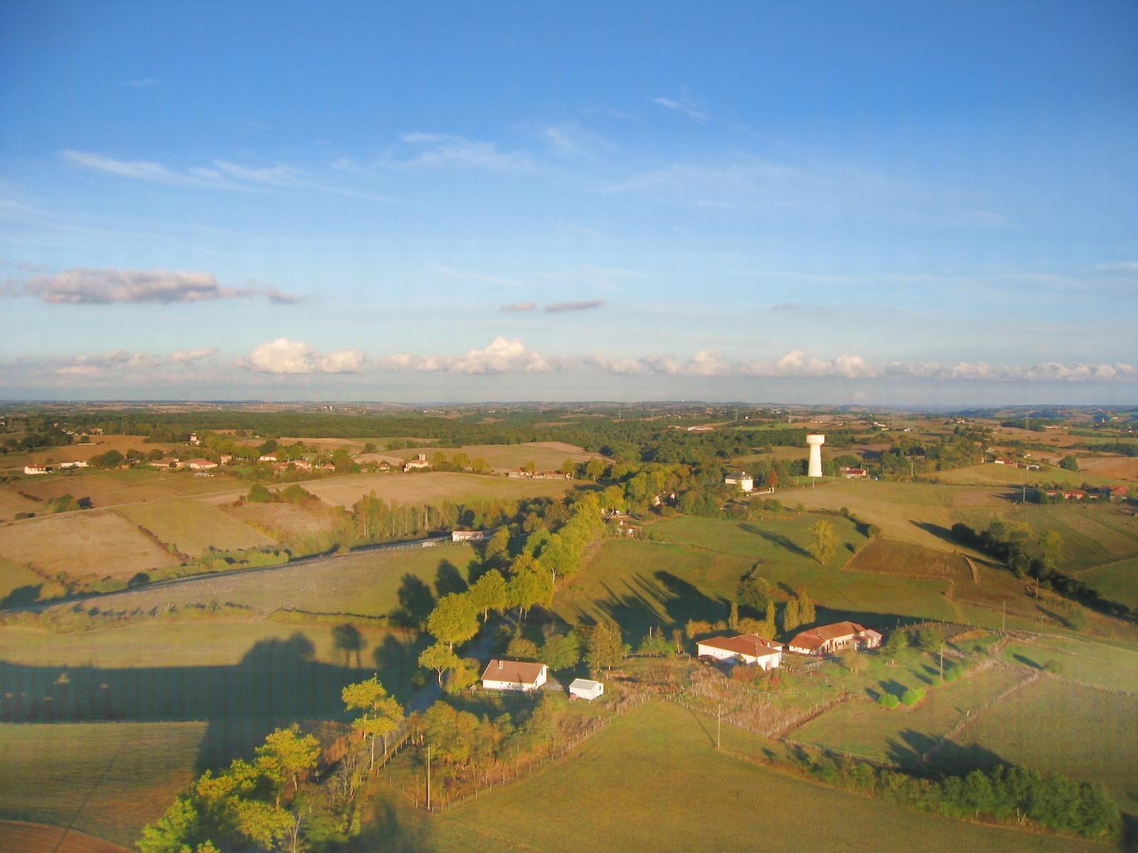 Vue aerienne de Berruts à Lilhac en Haute-Garonne