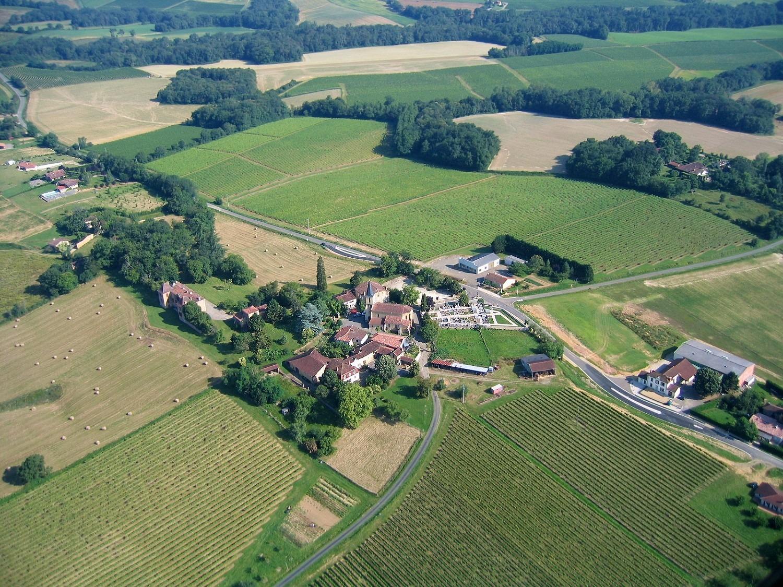 Photo aérienne en grand format de Bourouillan