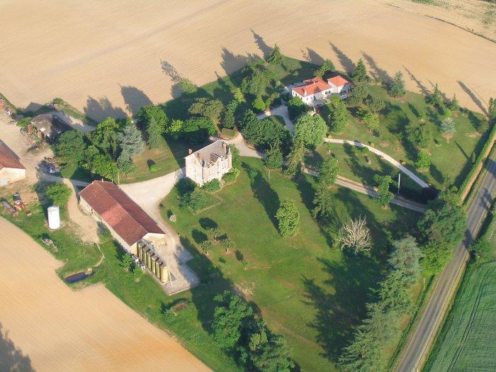 Vue aérienne de Bouscau à Parleboscq