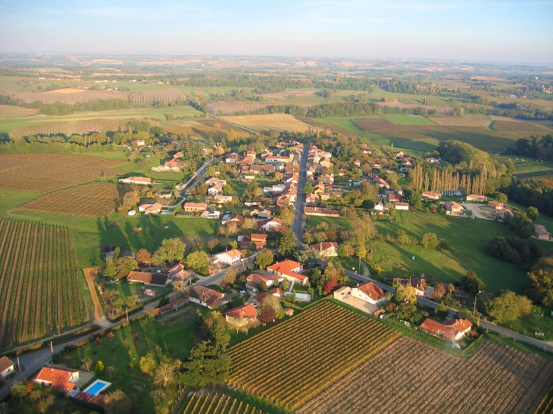 Photo aerienne en grand format de Bretagne d'Armagnac