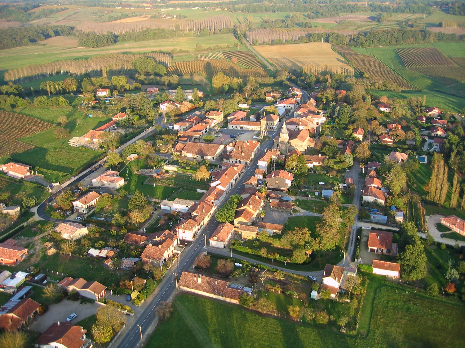 Photo aerienne en grand format de Bretagne d'Armagnac