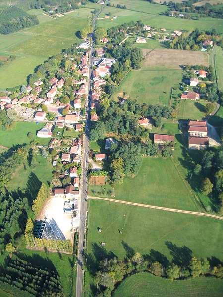Vue aerienne de Campagne d'Armagnac