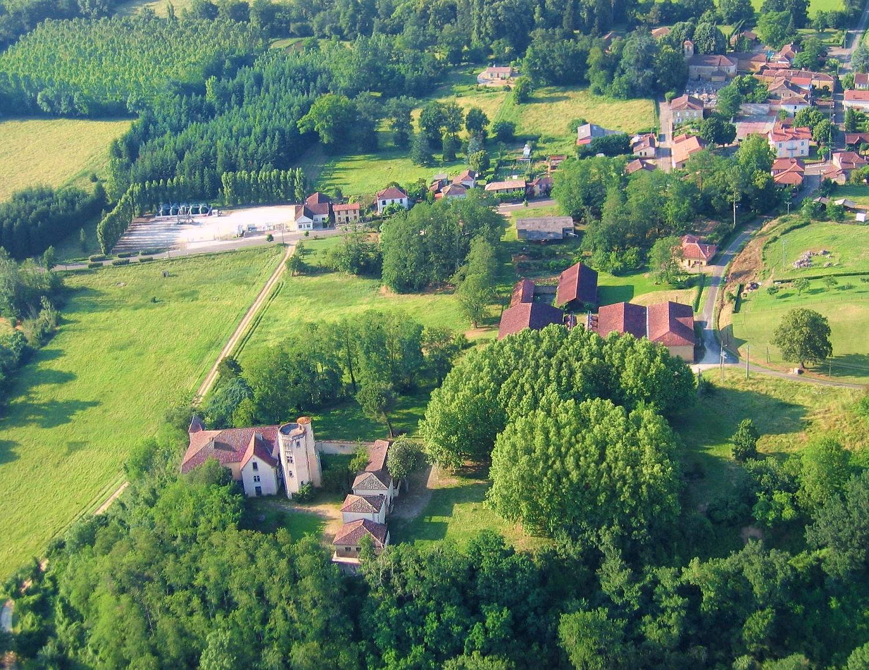 Photo aerienne en grand format de Campagne d'Armagnac