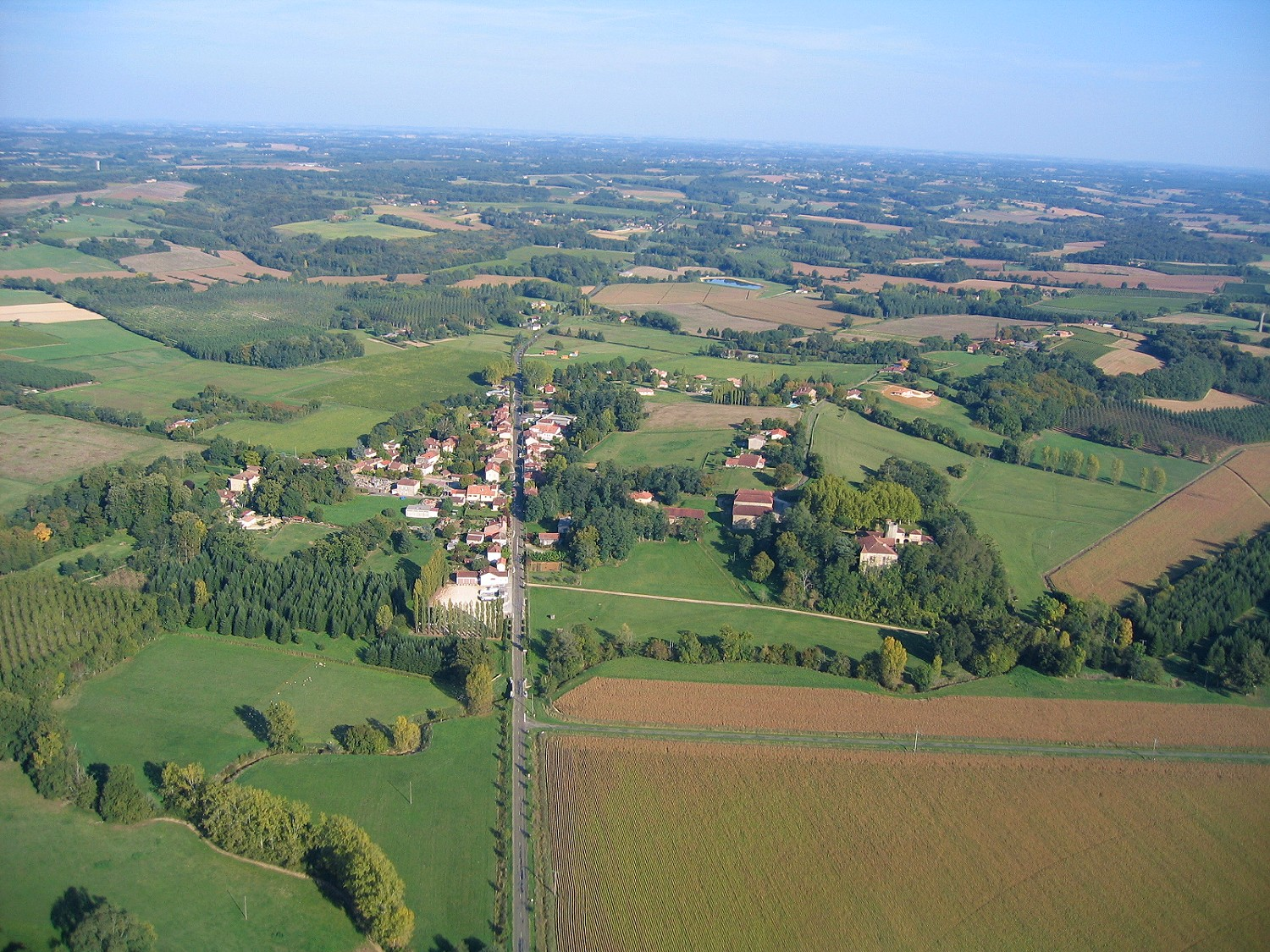 Photo aerienne en grand format de Campagne d'Armagnac