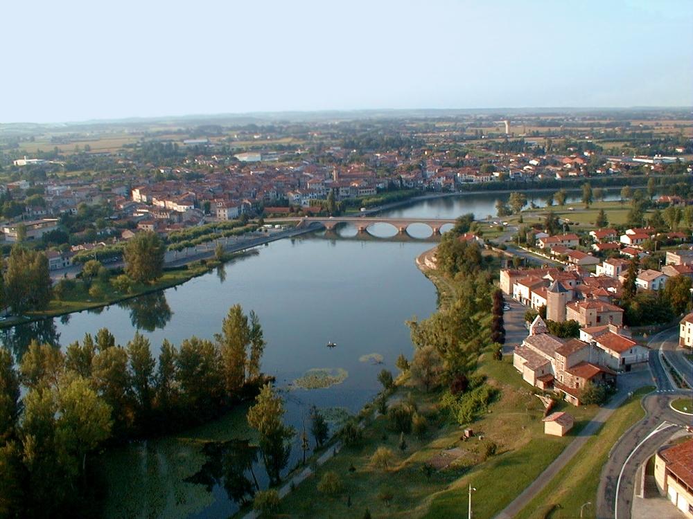 Photo aérienne de Cazères sur Garonne