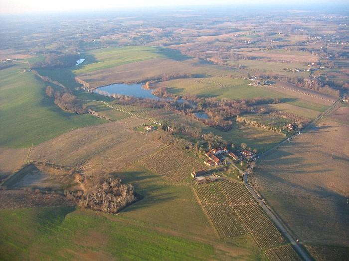 Vue aérienne Chateau Laballe à Parleboscq