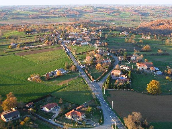 vue aerienne de Ciadoux en Haute-Garonne