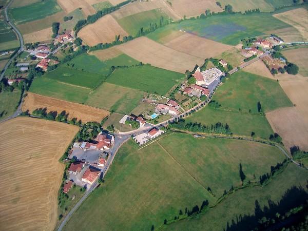 photo aérienne d'Eoux