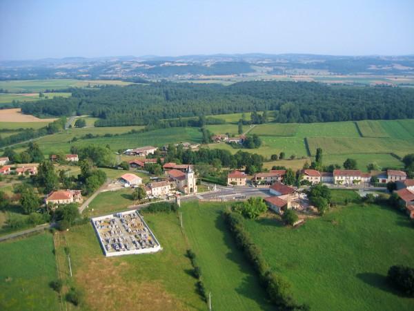 vue aerienne de Figarol