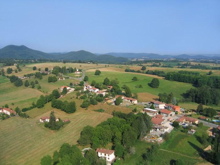vue aerienne d'Estadens