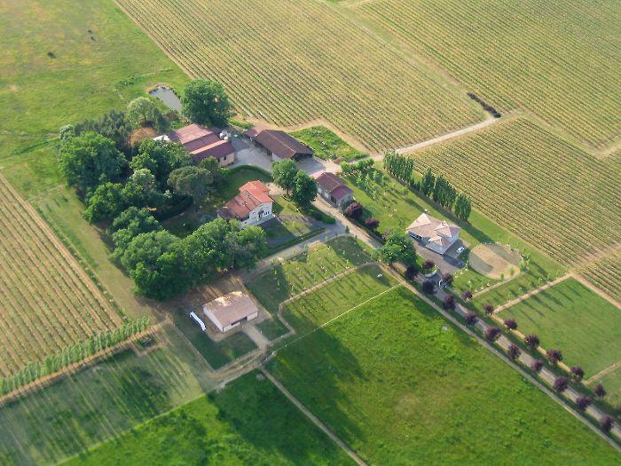 Vue aérienne de Haubet à Parleboscq