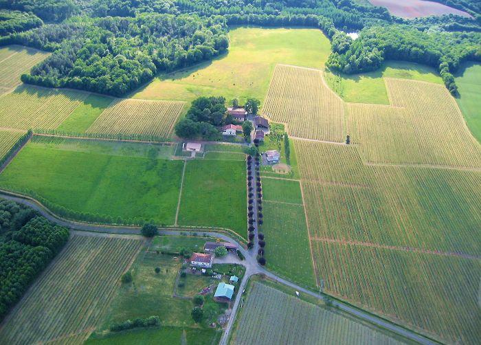 Vue aérienne de Haubet et le Petit-Tourné à Parleboscq