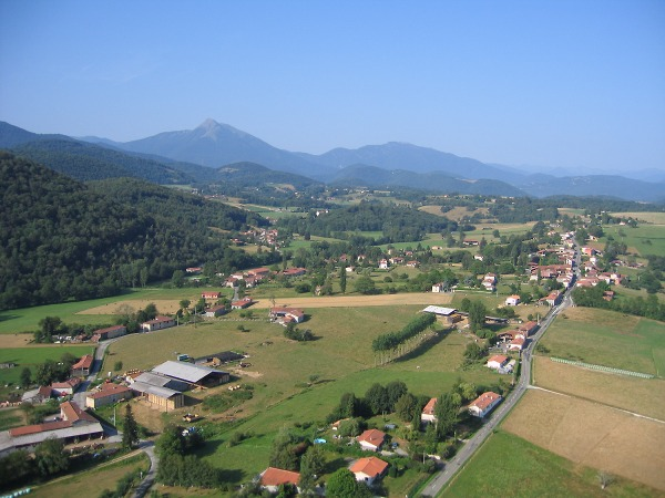 vue aerienne de Lasserre