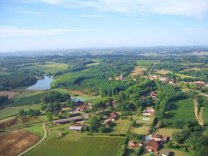 photo aérienne de Laujuzan
