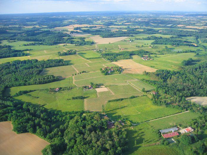 Vue aérienne de Le Caou, Toupié, Haubet, Lespare à Parleboscq