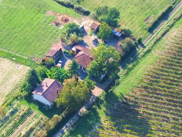 Vue aérienne du Caou à Parleboscq