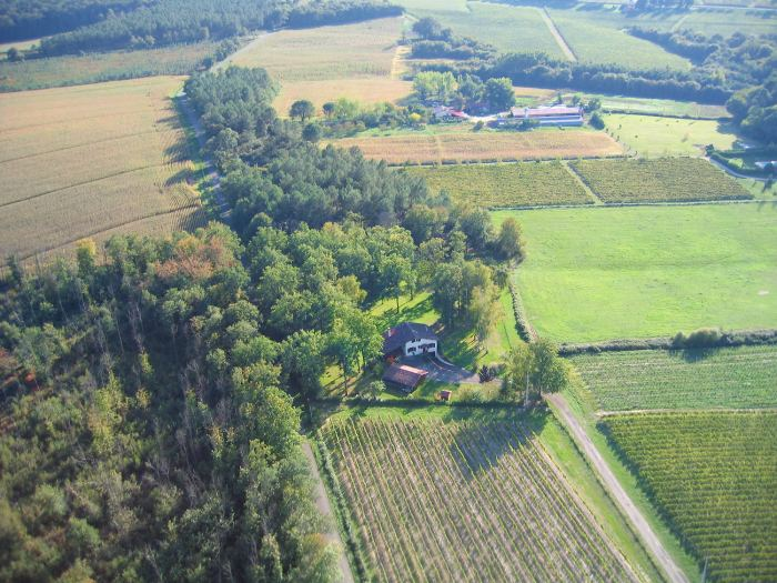 Vue aérienne de Le Caou à Parleboscq