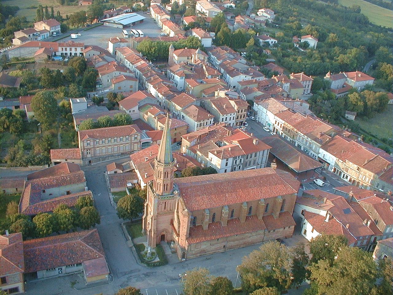 Vue aérienne de Le Fousseret