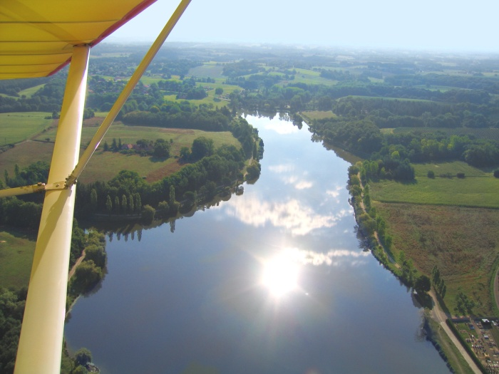 vue aerienne de Le Houga