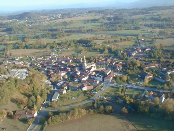 vue aerienne de Lestelle de Saint-Martory