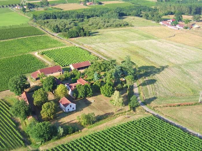Vue aérienne du Toupié à Parleboscq