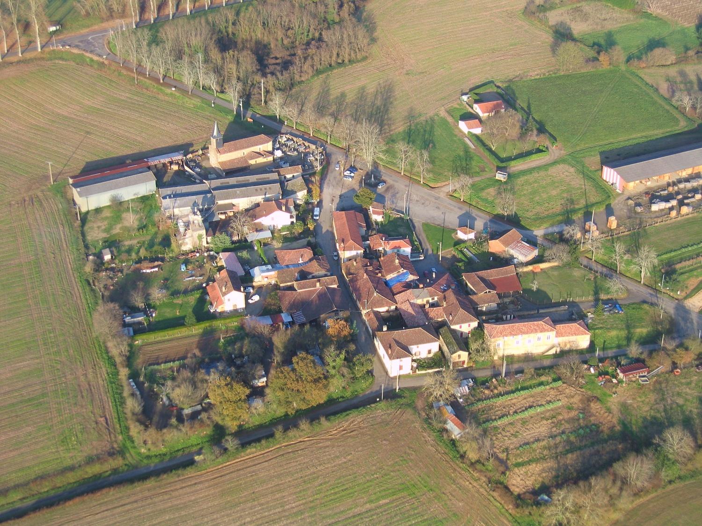 vue aerienne de Lias d'Armagnac