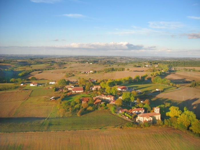 vue aerienne de Lilhac