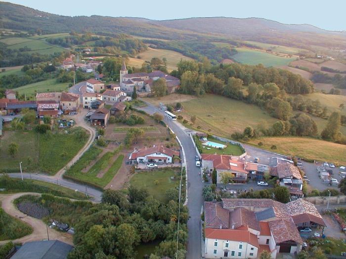 vue aerienne de Marignac-Laspeyre
