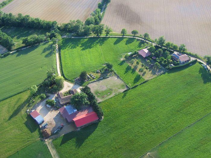 Vue aérienne de Martinon à Parleboscq