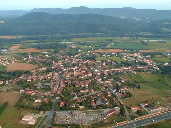 vue aerienne de Martres-Tolosane