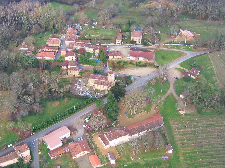 Vue aerienne de Mauleon-d'Armagnac