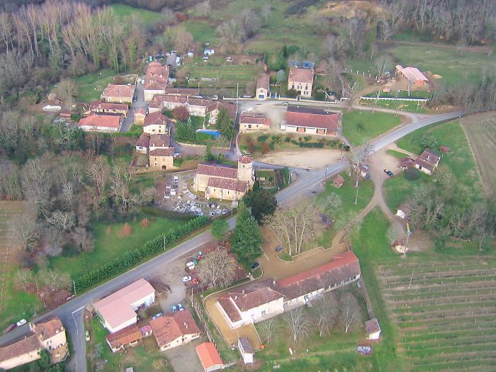 Vue aérienne de Mauleon-d'Armagnac