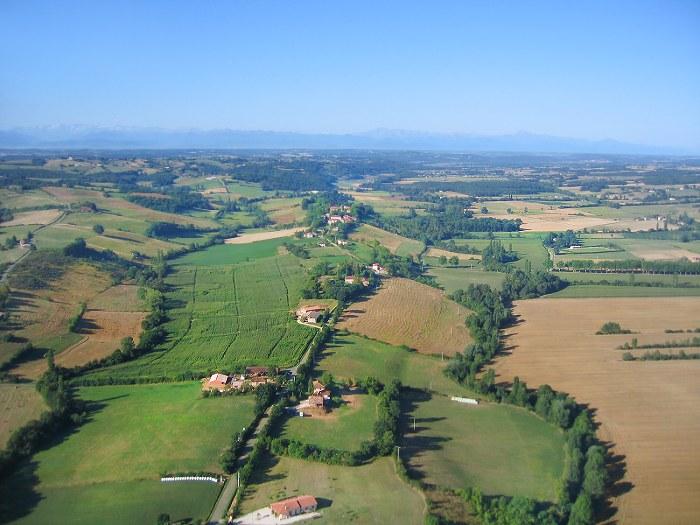 Vue aérienne de Montbernard