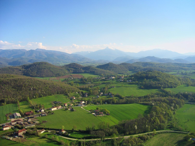 Vue aerienne de Montbernard