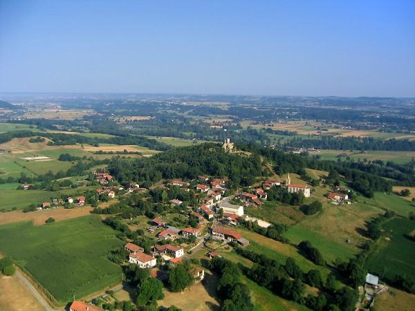 Vue aérienne de Montespan