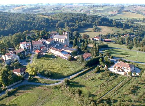 photo aérienne de Montoulieu Saint Bernard