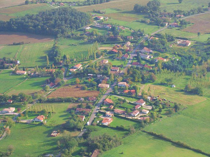 Vue aérienne de Saint-Cricq à Parleboscq