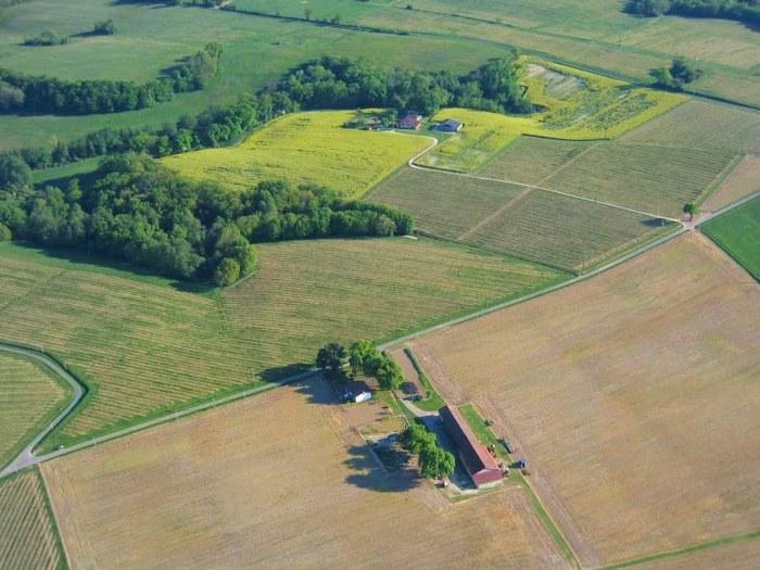 Vue aérienne de Capsec à Parleboscq