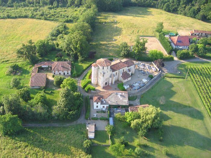 Vue aérienne de Parleboscq