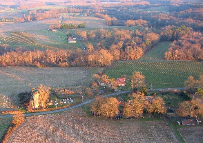 Vue aérienne de Mura à Parleboscq