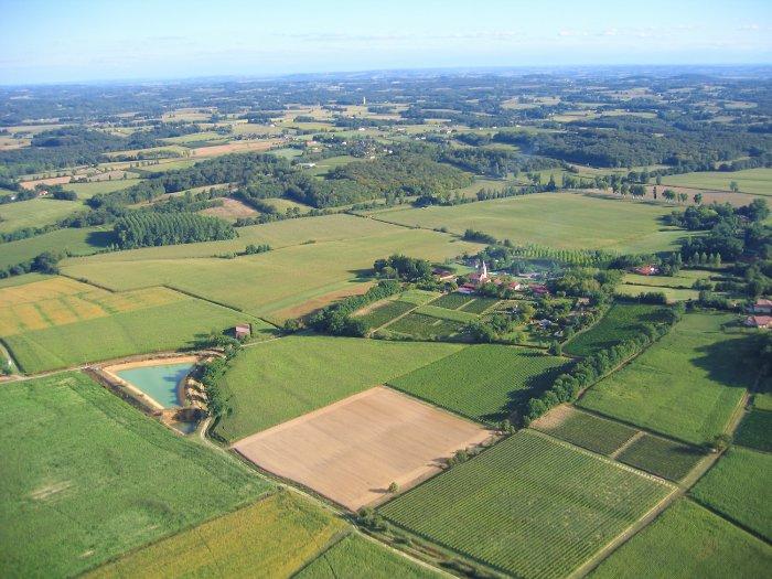 Vue aérienne de Panjas