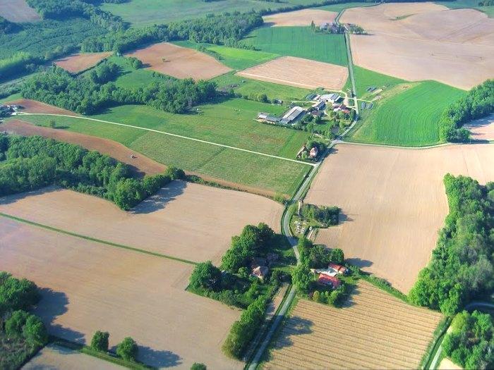 Vue aérienne de Duran et Mura à Parleboscq