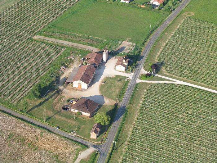 Vue aérienne de Maisonneuve à Parleboscq