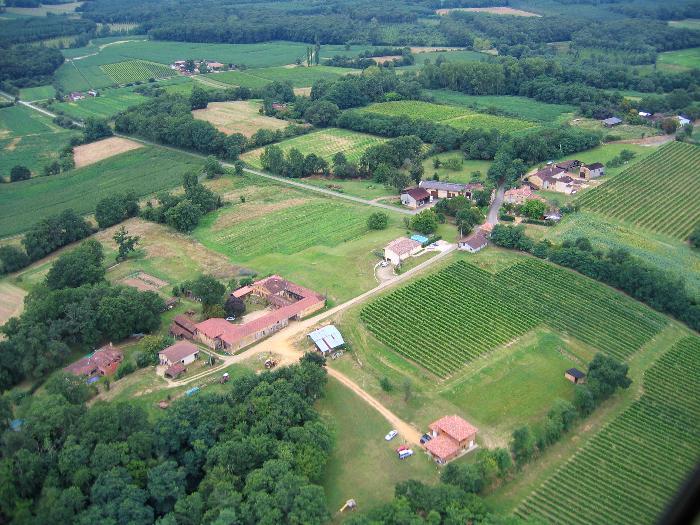photo aerienne de Poutéou 32240 Lannemaignan