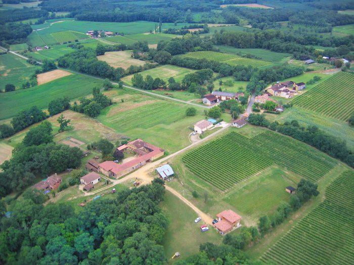 photo aérienne #1 de Poutéou, 40190 Hontanx