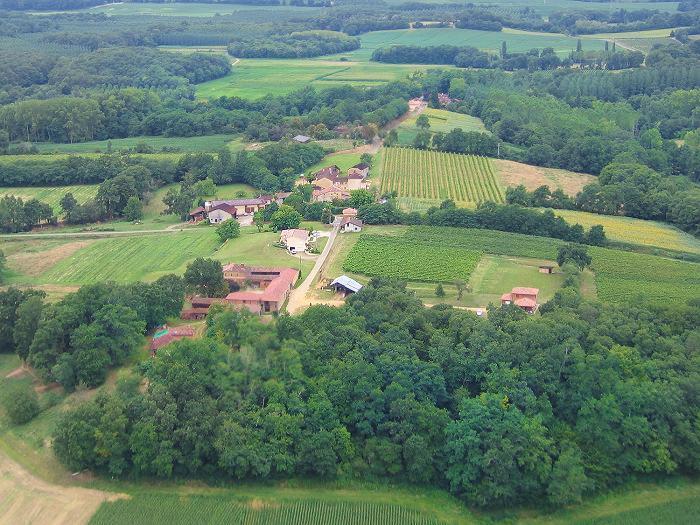 photo aérienne #2 de Poutéou, 40190 Hontanx