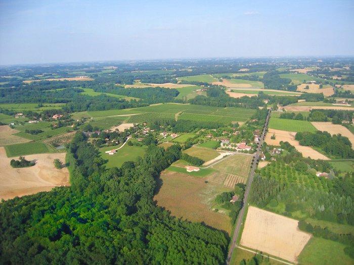 Vue aerienne de Réans
